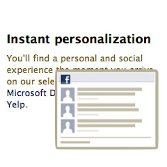 Facebook Instant Personalization