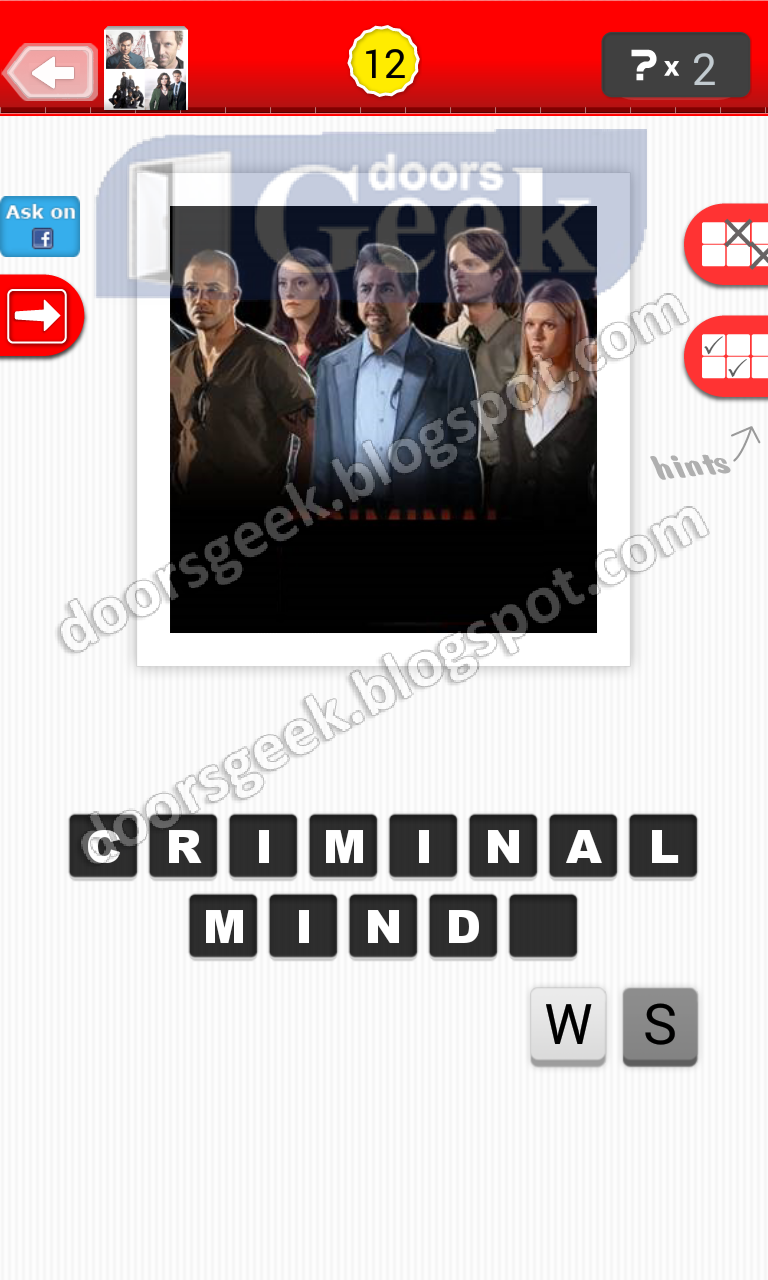 The TV Show Guess Answers Level 1