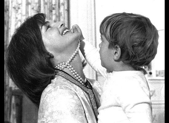 Jackie with JFK, Jr 1962