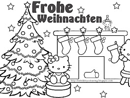 German Christmas Traditions Coloring Pages