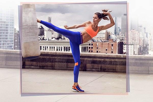 model Gisele Bundchen in a commercial sportswear