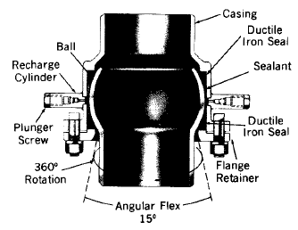 Typical ball expansion joint