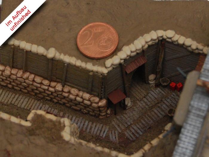 Erster Weltkrieg Diorama eines englischen Schützengrabens mit Tank und Soldaten, Diorama of a British Trench in WWI Bild 10