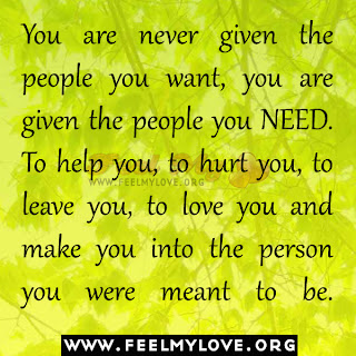 You are never given the people you want