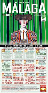 FERIA DE MÁLAGA 2015  Cartel Taurino