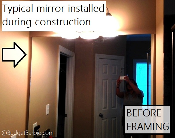 A Construction Grade Mirror With No Personality, Hung With Brackets And  After Time, Usually Is Water Damaged Around The Edges From Steam From The  Bathroom ...