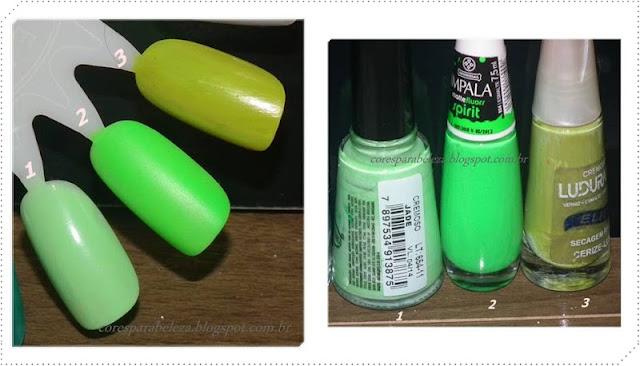 cores para beleza,  verde,  ludurana, impala, big universo Jade