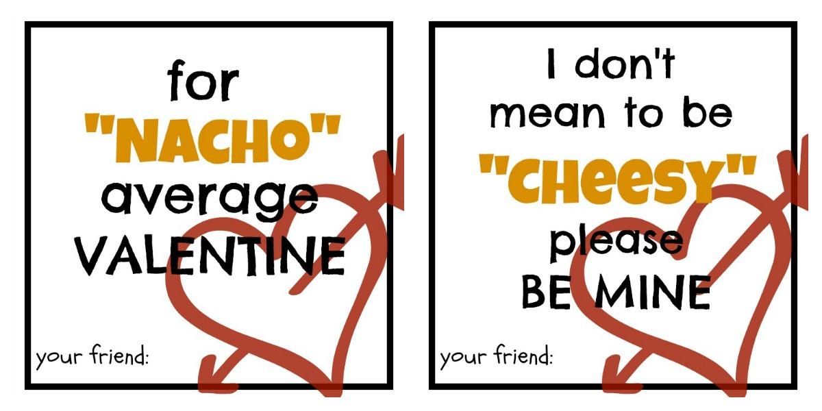 Nacho Average Valentines: Printable
