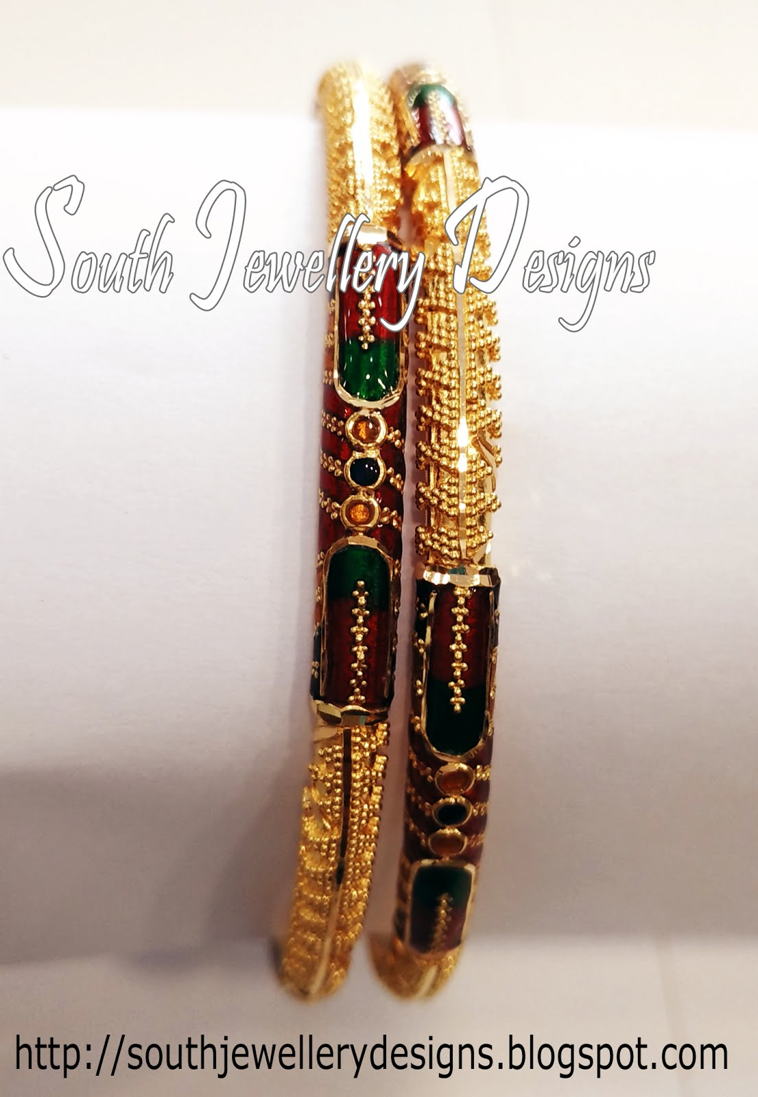 South Jewellery Designs: Gold Bangles Designs