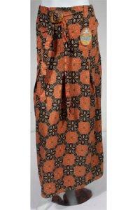 Rok Batik Cantik 003 - Merah Bata Hitam (Toko Jilbab dan Busana Muslimah Terbaru)