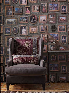 Picture Gallery Wallpaper in Charcoal