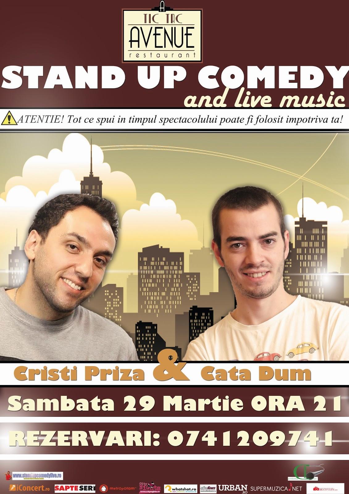 stand-up comedy bacau sambata 29 martie