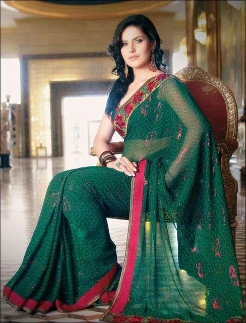 zarine khan in saree unseen pics