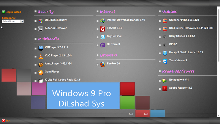 Windows 9 Professional Dekstop