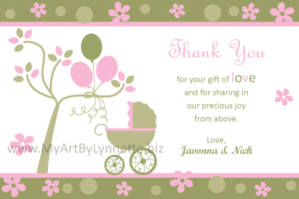 baby shower thank you cards wording baby shower thank you card