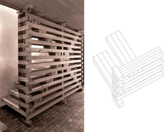 Escalera de madera sin uniones entre las piezas espacios - Escaleras con peldanos de madera ...