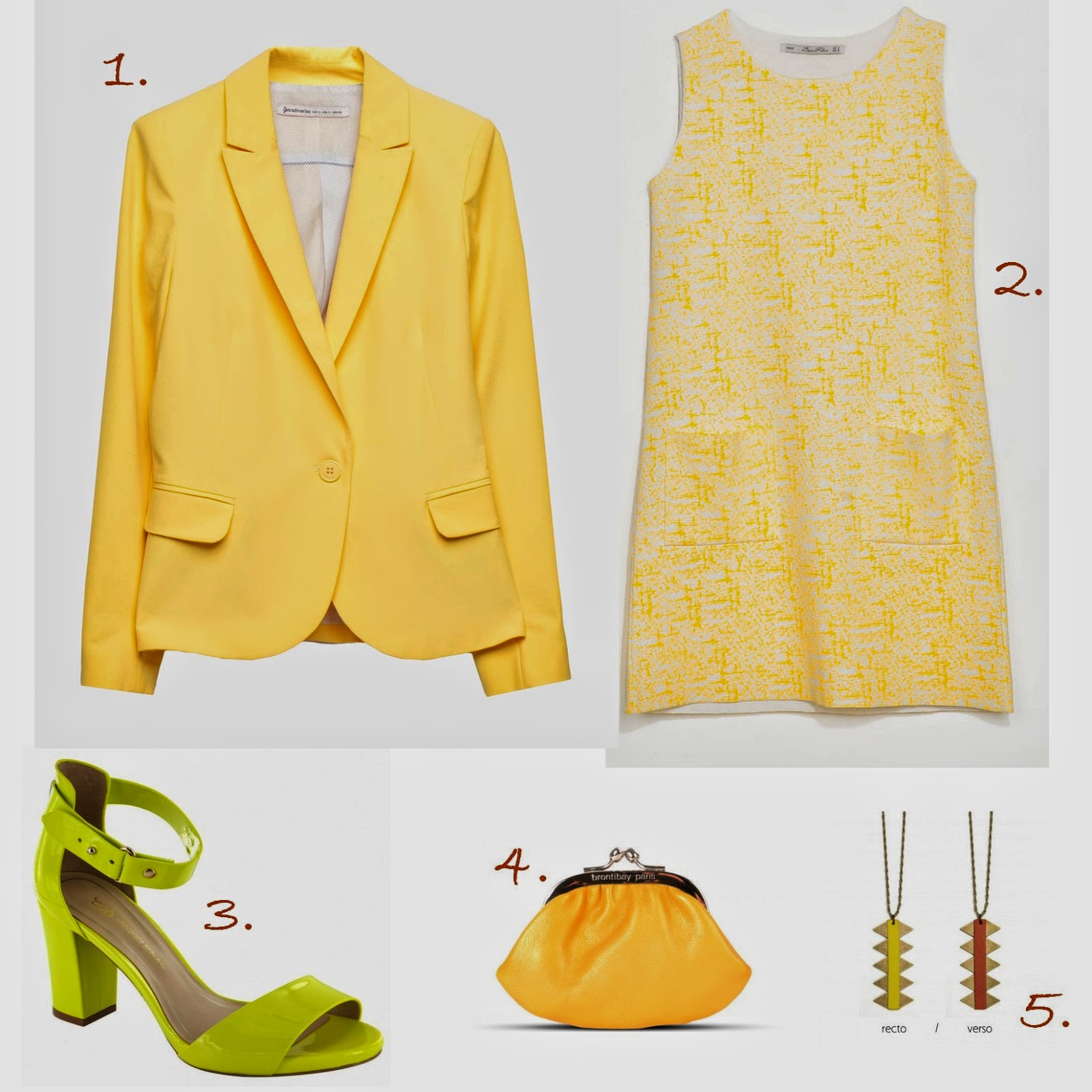 inspiration, tendance mode jaune