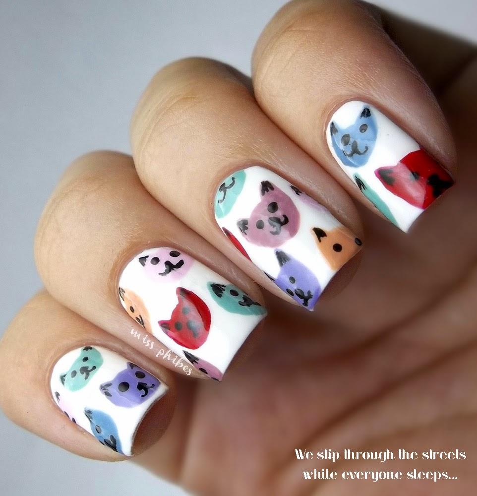 Cats Nail Art