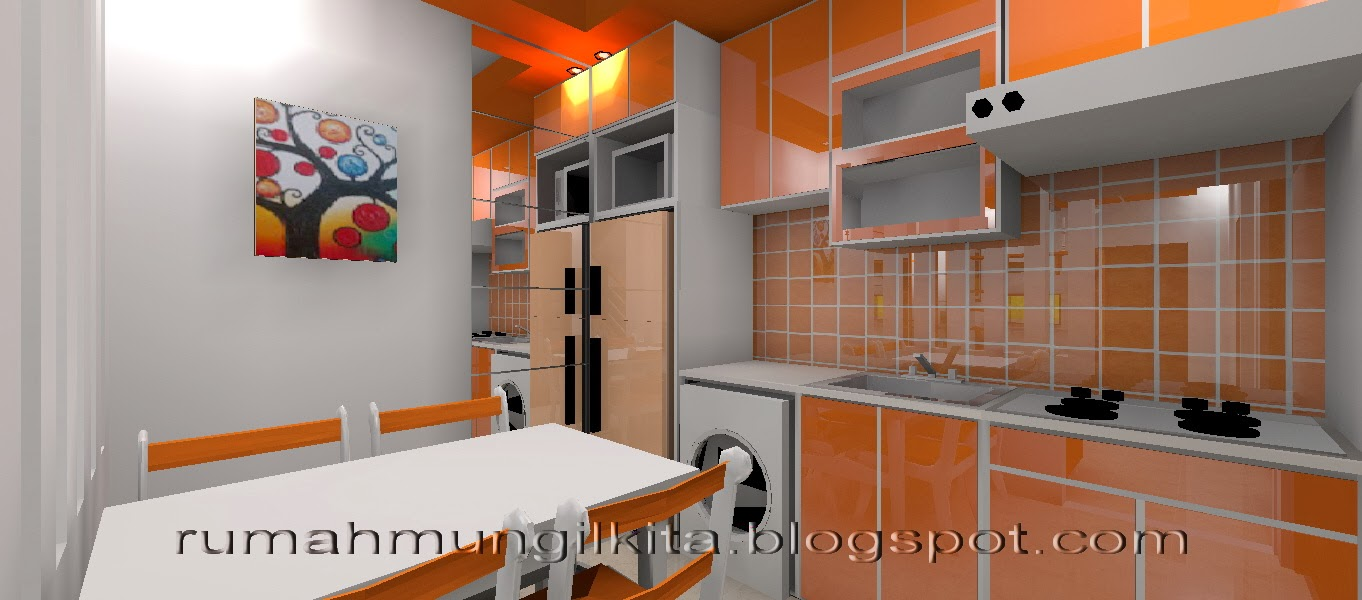 kitchen set oranye