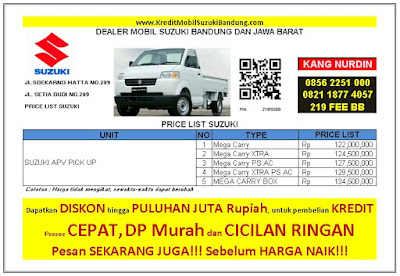 Harga Kredit Suzuki APV Pick Up Bandung 2016, Harga Kredit Suzuki APV Pick Up Bandung 2016