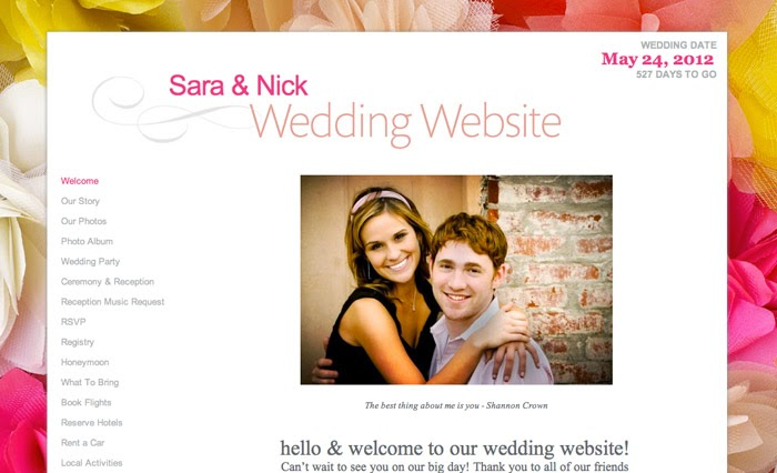 weddings n style guest post get a free personalized wedding website