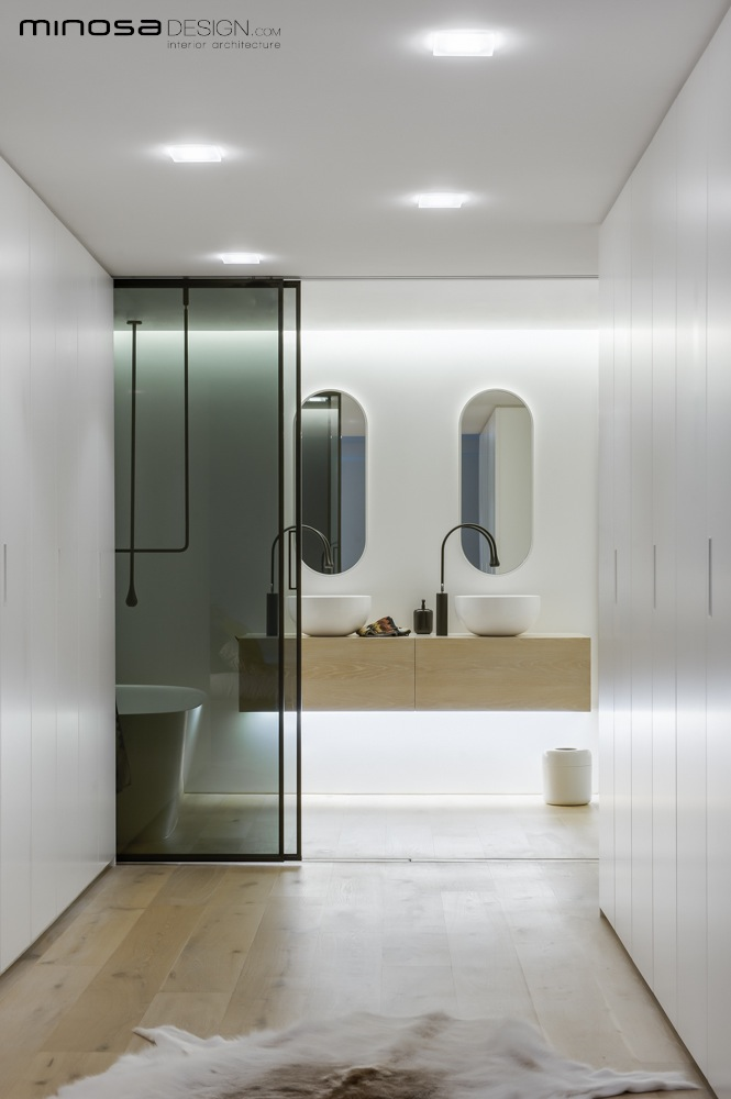 Minosa clean simple lines slick bathroom design by minosa Modern australian bathroom design