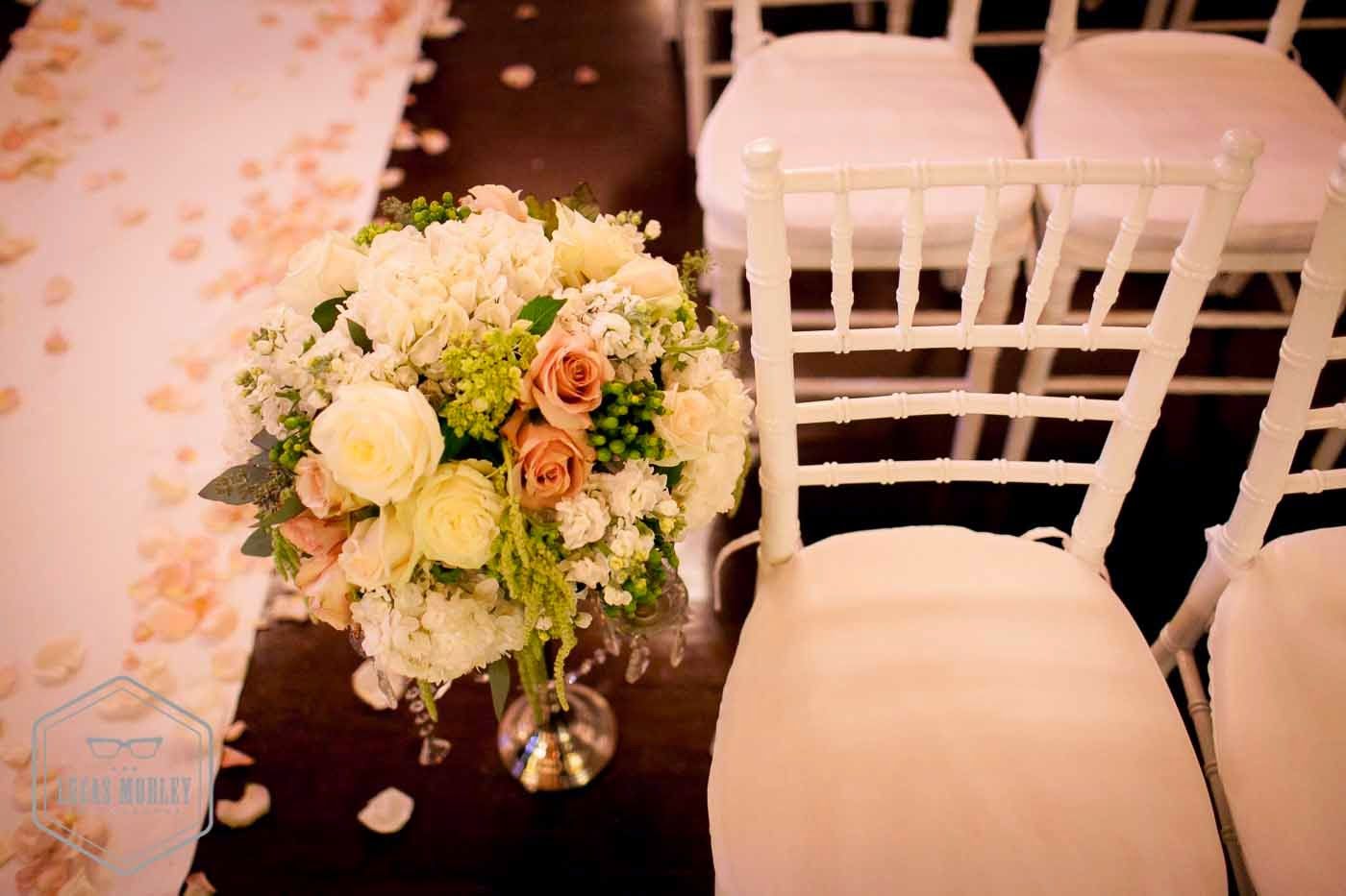 DeLille wedding ceremony, ceremony decor, Flora Nova Design