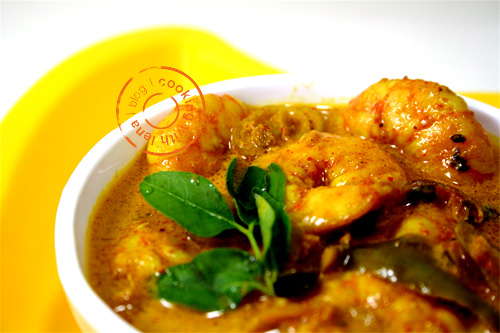 prawns mango curry