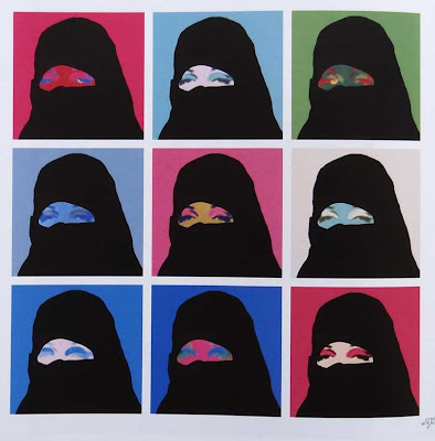Andy Warhol Burka Cartoon