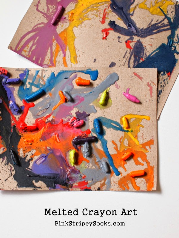 Make melted crayon art