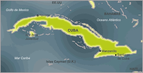 isla de cuba mapa