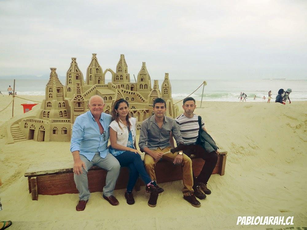 Pablo Lara Henriquez with Sam Carter, Fabiano and Veronica Barros