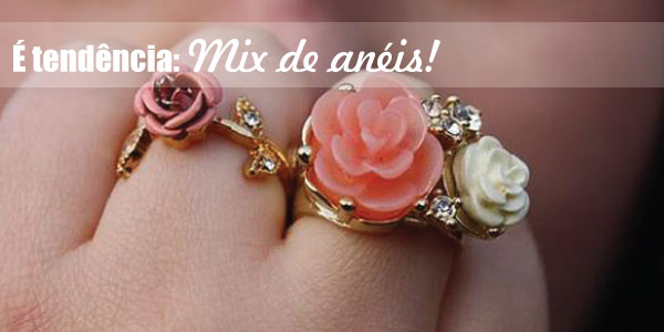 Anelismo - mix de aneis dourados - tendência - flores