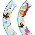 Toppers y Wrappers para Cupcakes de Dora Princesa, para Imprimir Gratis.