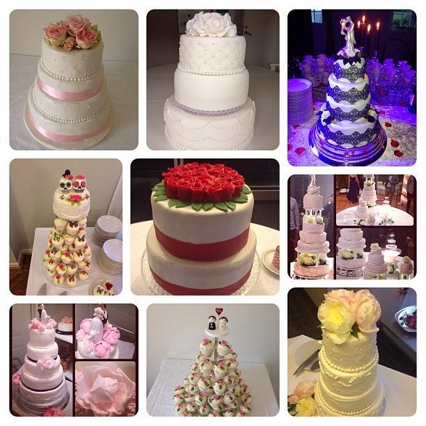 några bröllopstårtor från 2013