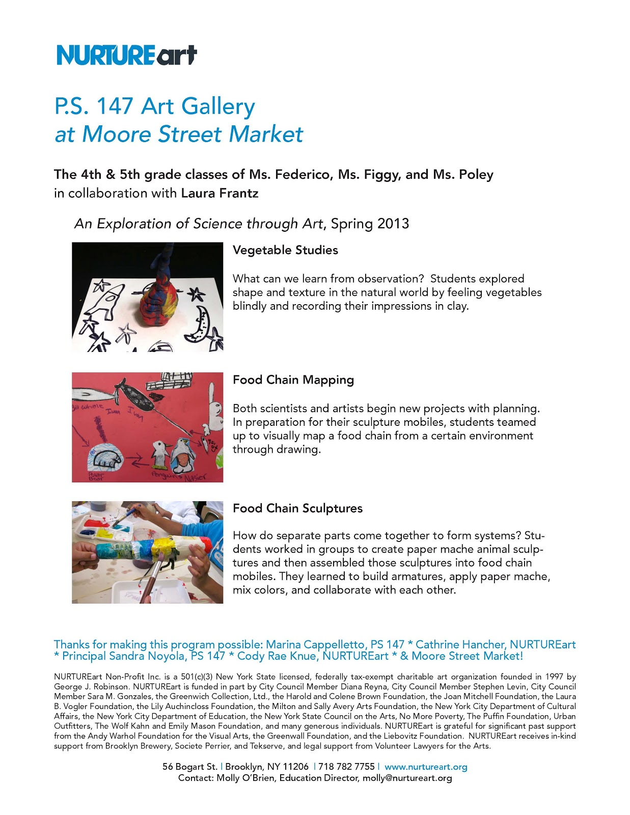 p s 147 art gallery at moore street market
