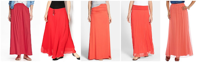 Old Navy Maxi Skirt $14.97 (regular $34.94)  A Little Bit Hippy Solid Long Skirt $20.00   Bobeau Asymmetric Knit Maxi Skirt $29.90 (regular $59.00) I love the gray one too!  Max & Mia Crinkled Maxi Skirt $46.80 (regular $78.00)  Cremieux Rachel Maxi Skirt $47.40 (regular $79.00)