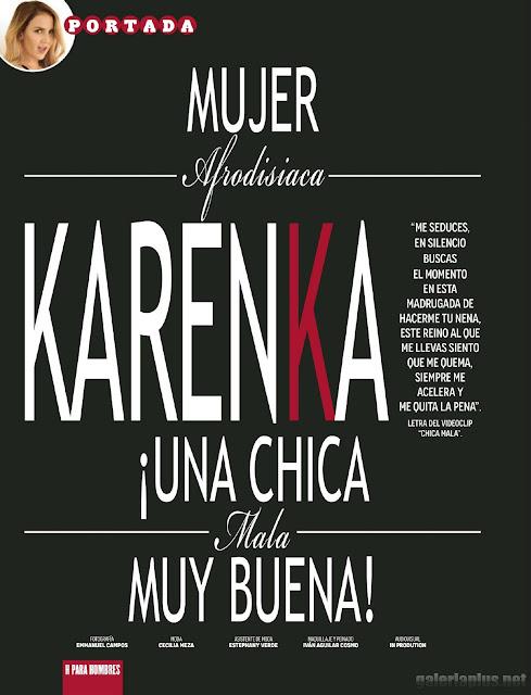 Karenka Revista H para hombres Junio 2015