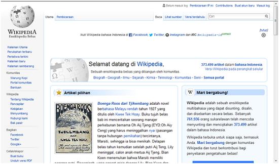 Wikipedia, wibsite terkenal