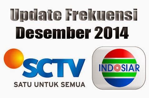 Frekuensi Terbaru SCTV Indosiar Dec 14