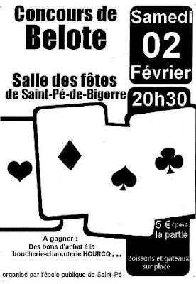 Saint-Pé de Bigorre : Concours de Belote 2013