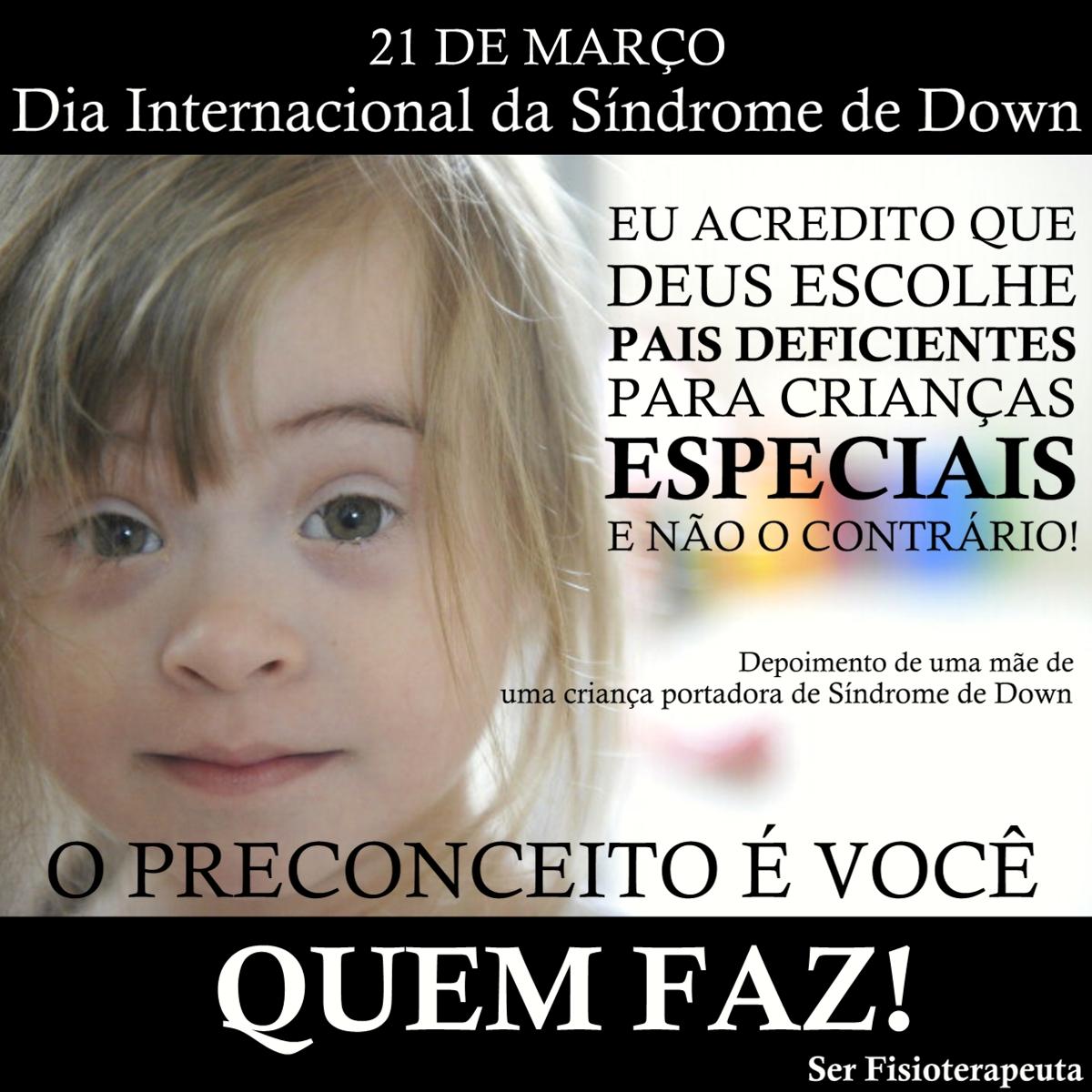 Ser Fisioterapeuta Dia Internacional Da Síndrome De Down