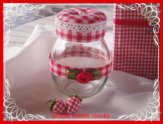 Piccolo mondo country vasetti di vetro decorati - Vasetti vetro decorati ...
