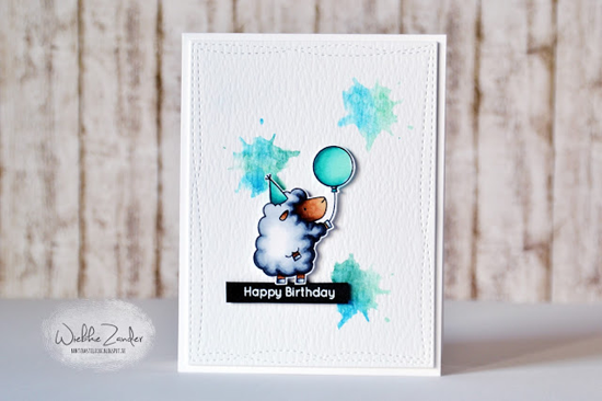Handmade birthday card featuring the Birdie Brown Ewe Are the Best stamp set #mftstamps