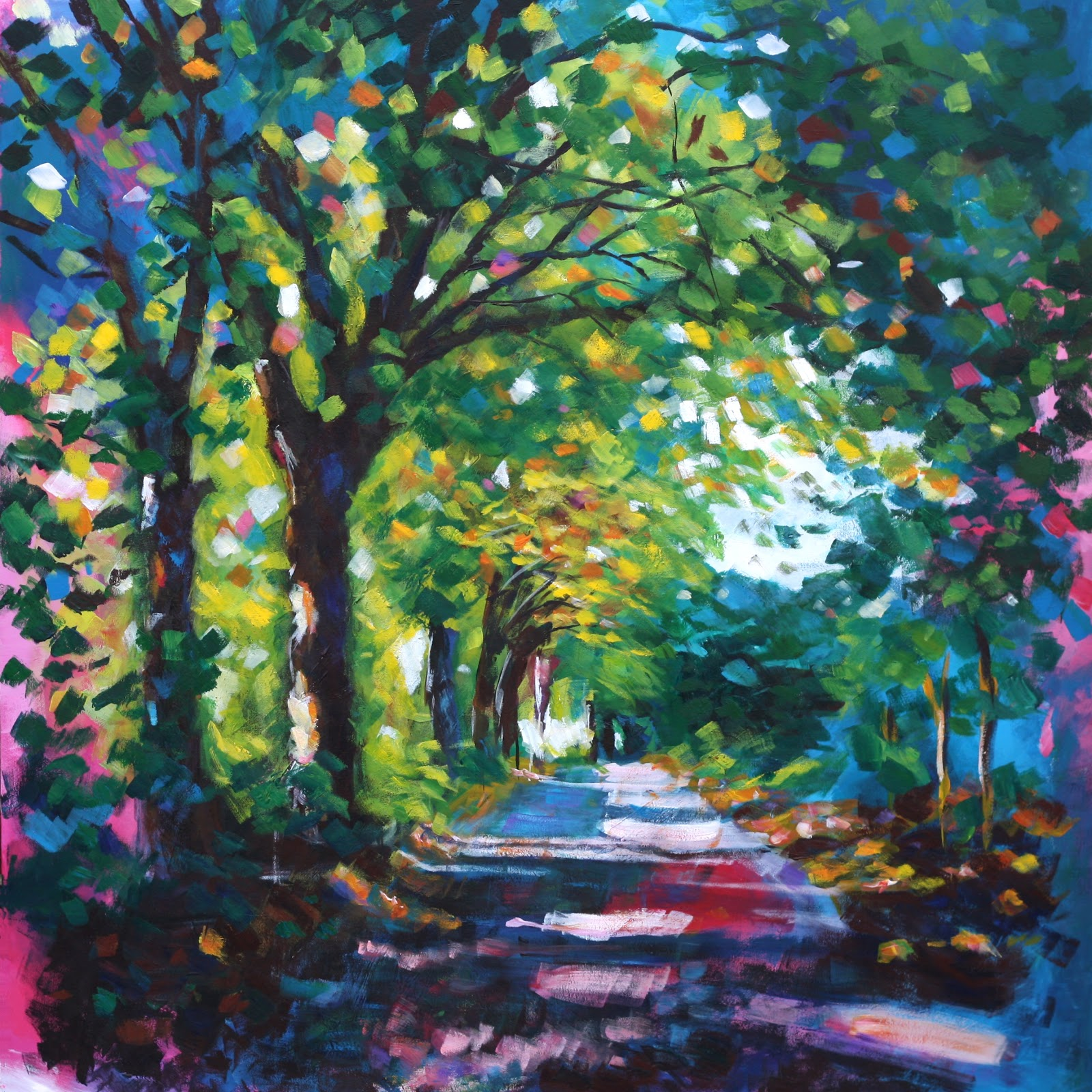Path at saltaire a r t for Painting with acrylic paint