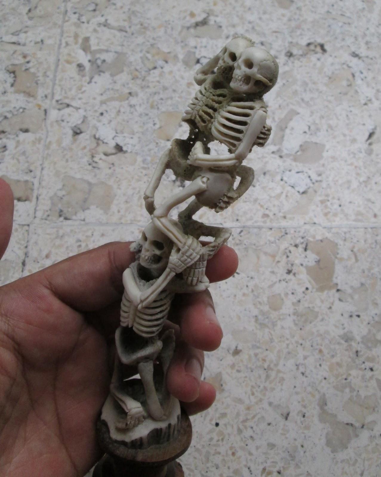 Skeleton Group Carving in Antler