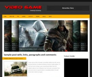 Video Game Blogger Template