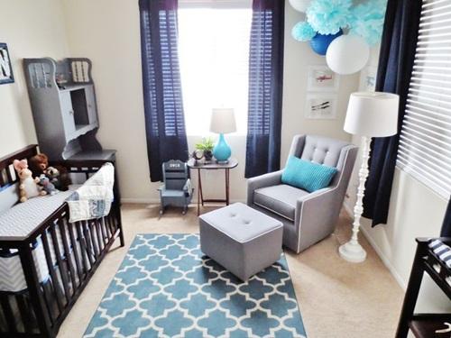 Cuartos de beb en azul dormitorios colores y estilos - Color pared habitacion bebe ...