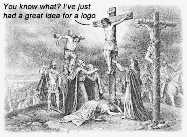 Funny Jesus Cross Logo Idea Picture