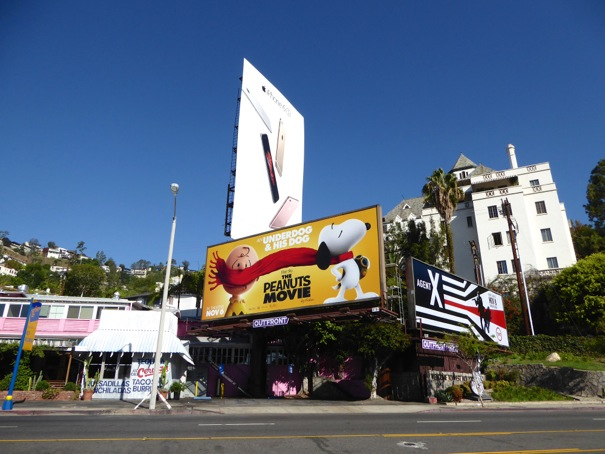 Peanuts Movie billboard